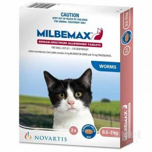 Milbemax Milbemax Wormer for Small Cats up to 2kg
