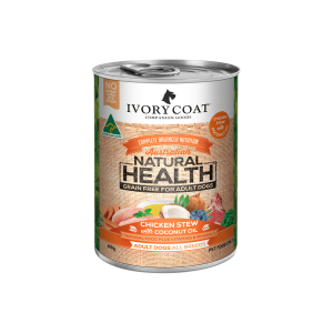 IVORY COAT Ic Grain Free Chicken & Coconut Stew Adult Wet Dog Food 400g