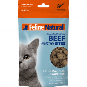 FELINE NATURAL Feline Natural Beef Healthy Bite Treats 50g