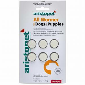 Aristopet Allwormer For Dog/puppy 6 pack