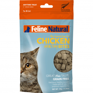 FELINE NATURAL Feline Natural Chicken Healthy Bite Treats 50g