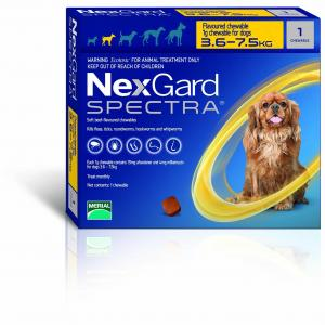 NexGard  Spectra Chewables For Small Dogs 3.6-7.5kg