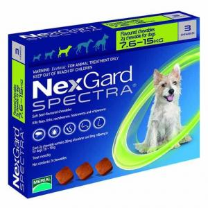 NexGard  Spectra Chewables For Medium Dogs 7.6-15kg