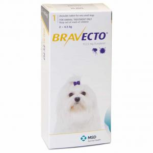 BRAVECTO Bravecto Flea & Tick Chewable Treatment for Extra Small Dogs 2-4.5kg