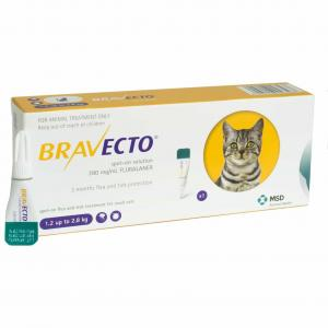 BRAVECTO  Spot On Flea & Tick Treatment For Large Cats (6.25 SMALL