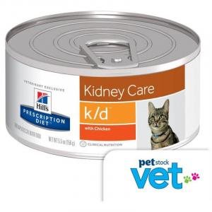 Hill's VET Hill's Prescription Diet k/d Kidney Care Chicken Canned Cat Food - 156g