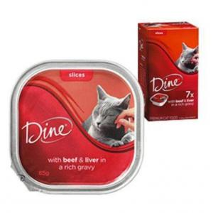 Dine Dine - Beef & Liver Cuts in Gravy Cat Tray