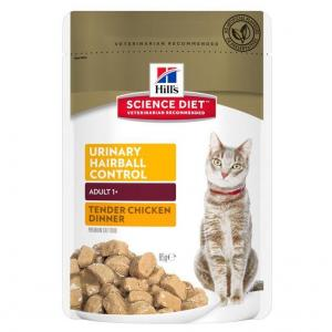 Hill's Hill's Science Diet Adult Urinary Hairball Control Chicken Pouch Cat Food 85g