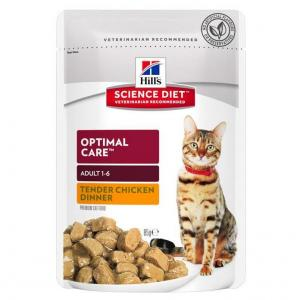 Hill's Hill's Science Diet Adult Optimal Care Chicken Cat Food Pouch 85g