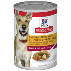 Hill's Hills Science Diet Adult Savory Stew Chicken & Vegetables Canned Dog Food 363g