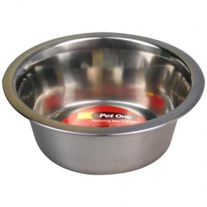 Pet One Pet One Standard Stainless Steel Bow 350ml