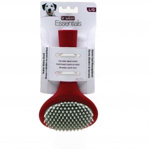 LE SALON Le Salon Essentials Dog Rubber Slicker Brush Large