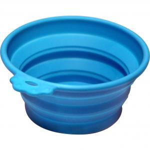 Pet One Pet One Silicone Round Travel Bowl S 370ml Blue