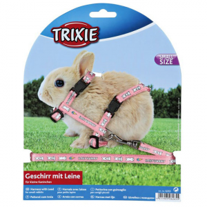 Trixie  Baby Rabbit Harness And Lead Set - Assorted Colours