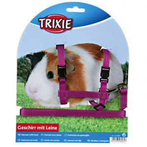 Trixie  Harness And Lead Set For Guinea Pigs - Assorted Colours