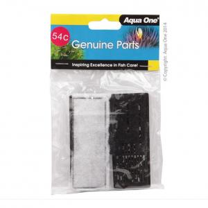 Aqua One AO Cartridge Carbon 100 Clear View 2pk