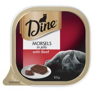 Dine Dine Wet Morsels Jelly with Beef 85g