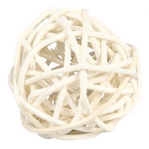 Trixie Trixie Wicker Ball with Bell 4cm
