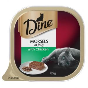 Dine Dine Wet Morsels Jelly with Chicken 85g