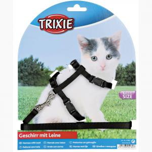 Trixie  Kitten Harness & Lead - Assorted Colours