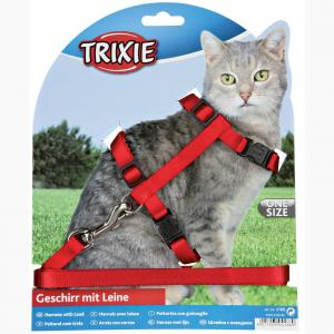 Trixie  Cat Adjustable Harness & Lead - Assorted Colours