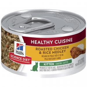Hill's Hill's Science Diet Kitten Healthy Cuisine Chicken & Rice Medley Canned Cat Food 79g