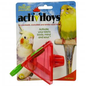 JW JW Insight Tilt Wheel Bird Toy - Assorted Colours