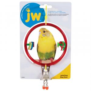 JW JW Insight Clear Ring Bird Toy - Assorted Colours