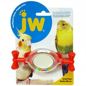 JW JW Insight Rattle Mirror Bird Toy - Assorted Colours