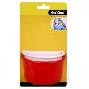 Avi One Avi One Plastic Bird Feeder with Metal Holder 2 Pack