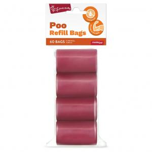 Yours Droolly  Refill Bags Red 60 Pack