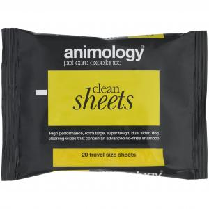 ANIMOLOGY Animology Clean Sheets Travel Pack 20 Wipes