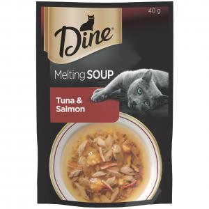 Dine Dine Wet Tuna & Salmon Soup 40g