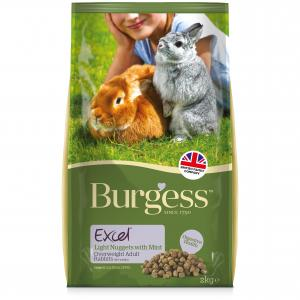 BURGESS Burgess Excel Overweight Adult Rabbit Nuggets 2kg