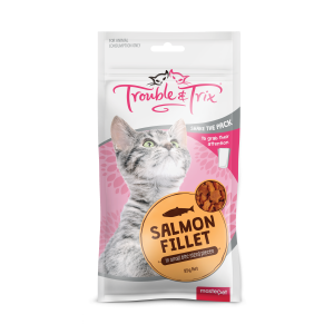 Trouble N Trix Trouble & Trix Cat Treat Salmon Fillet Cat Treats 85g