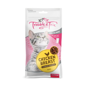 Trouble N Trix Trouble & Trix Cat Treat Chicken Breast Cat Treats 85g