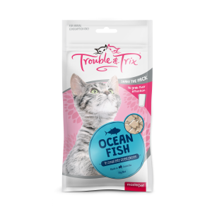 Trouble N Trix Trouble & Trix Cat Treat Ocean Fish Cat Treats 70g