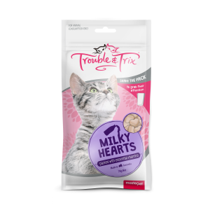 Trouble N Trix Trouble & Trix Cat Treat Milky Heart Cat Treats 70g