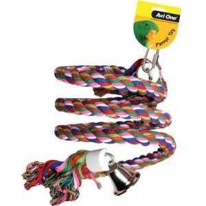 Avi One Avi One Parrot Rope Twister with Bell - Large