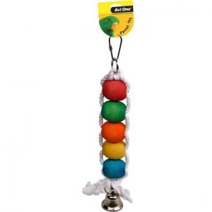 Avi One Avi One Parrot Rope with Beads & Bell
