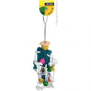 Avi One Avi One Parrot Mr Robot with Rope, Beads & Bell