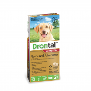 Drontal Drontal All Wormer for Dogs 20-35kg 2 Tablets