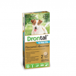 Drontal Drontal All Wormer for Dogs 10kg 2 Tablets