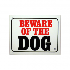 PANDA SIGNS Plaque 'beware Of The Dog'