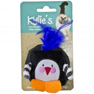 KYLIES Kylies Feather Bird Rattle Cat Toy Black & White