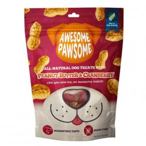 AWESOME PAWSOME Awesome Pawsome Peanut Butter & Cranberry Dog Treats 85g