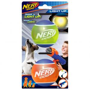 NERF  Tpr Tennis Balls With Led Light 2 Pack