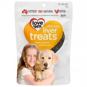 Loveem Love 'Em Chicken Liver Dog Treats 90g
