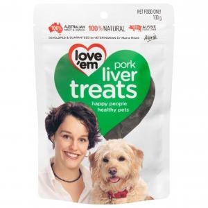 Loveem Love 'Em Pork Liver Dog Treats 100g