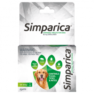 SIMPARICA Simparica Chewable Tablets for Dogs 20-40kg